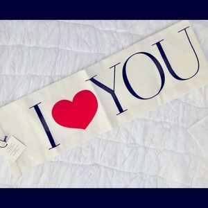 I HEART YOU Valentine Kitchen Tea Towel BRAND NEW